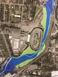 Schematic of Brown's Creek floodplain