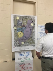Checking out a crowdsourced annotated site plan