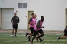 Midfielder Bolu Akinyode and striker Daniel Rios