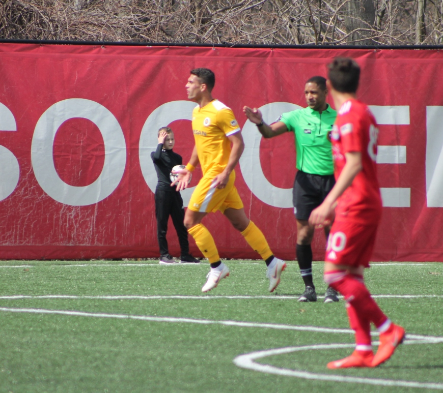Daniel Rios opened the scoring in Montclair. Tim Sullivan/For Club and Country Nashville SC New York Red Bulls II