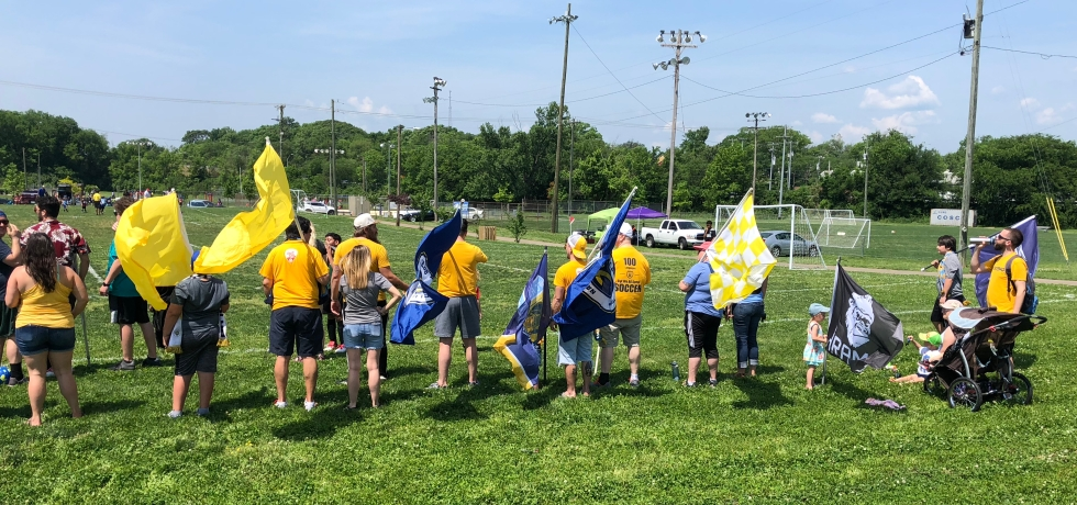 Roadies support Soccer For The Nations teams. May 12, 2018.